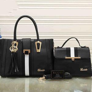 2点セット✩グッチ Gucciハンドバッグ 2way用カバン 鞄  ミニハンドバッグ付き  フリンジストラップありカバン 最安値!