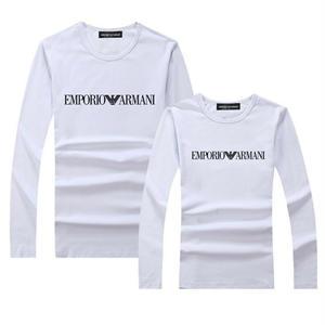 勧め新品Emporio Armani エンポリオ・アルマーニ ロゴTシャツ  長袖 ロンT ロゴTシャツ  メンズ レディース  綿  アルマーニTシャツ ペアルック