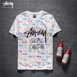 勧め人気新品 ステューシーカラフルモチーフTシャツ 半袖  STUSSY 男女兼用
