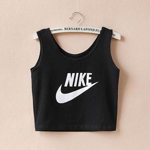 夏定番!Nike ナイキ人気腹出しタンクトップ 白/黒 ヘソ出し