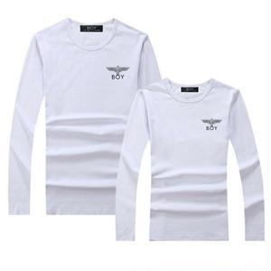 人気新品 BOY LONDON ボーイロンドン Tシャツ  カラフルロゴ 長袖 ロンT 無地Tシャツ  メンズ レディース