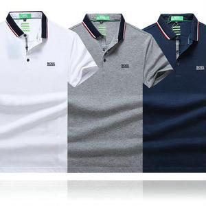 夏定番★ヒューゴボス HUGO BOSS 良い着心地ポロシャツ 半袖 メンズ用ポロシャツ スウェット Tシャツ