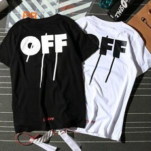 「オフホワイト/Off-White」個性なTシャツ 半袖 アウター 男女兼用