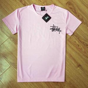 人気ステューシー半袖Tシャツ タグ付きロゴトップス ピンク