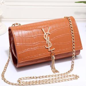 ゼレブ愛用 Yves Saint Laurent   ショルダーバッグ  蛇柄イヴ・サンローラン バッグ  チェーン鞄  レディース