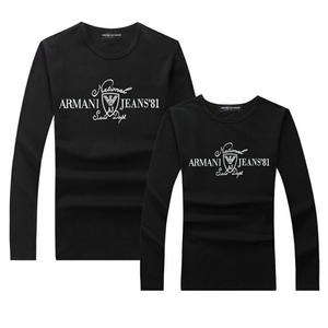 人気 ARMANI JEANS アルマーニジーンズ Tシャツ  長袖 ロンT ロゴTシャツ  メンズ レディース  綿  アルマーニTシャツ ペアルック