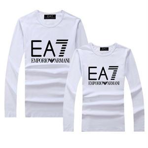 人気エンポリオアルマーニ EMPORIO ARMANI EA7 Tシャツ 長袖 ロンT丸ネック ロゴTシャツ  アルマーニTシャツ