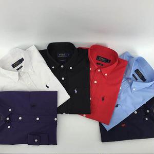 人気 ポロ・ラルフローレン POLO RALPH LAUREN シャツ 無地 ロゴ刺繍シャツ 長袖 メンズ