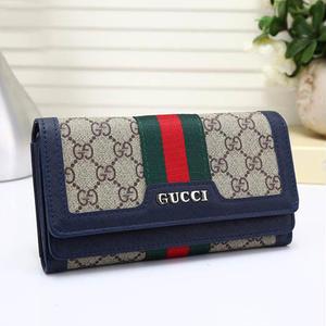 人気勧め美品♥グッチ Gucci 長財布 3つ折りさいふ メンズ レディース  小銭入れ財布 新品未使用