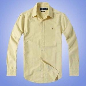 人気 ポロ・ラルフローレン POLO RALPH LAUREN シャツ 無地 ロゴ刺繍 長袖 メンズ シャツ