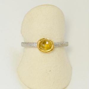 イエローダイヤモンドPT900-K22リング
