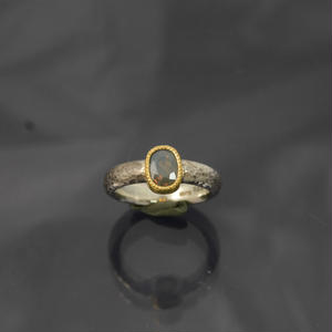 silver925/K22YG レッドクリソベリルの指輪