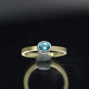 K18YG-Pt900 グランディディエライトの指環