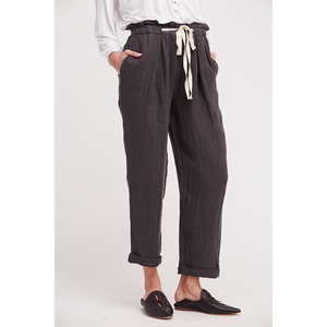 ONLY OVER YOU LINEN PANTS/BLACK