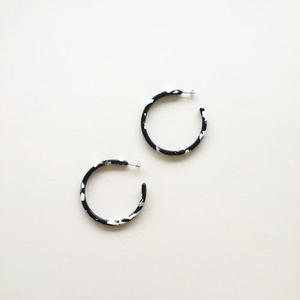 Large Noir Tortoise Hoops
