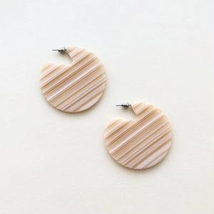 Clare Earrings in Chameau Stripe