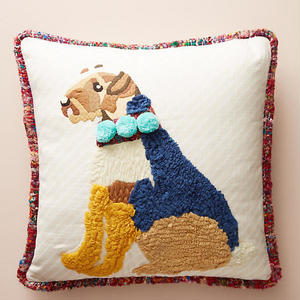 Embroidered Dog Pillow