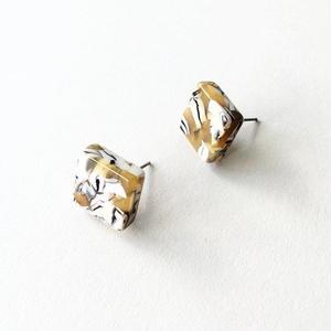 Calico Tortoise Block Earrings