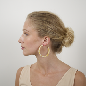 Large Hoops in Jaune