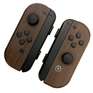[for Nintendo Switch joycon]Dark Wood -skin sticker-