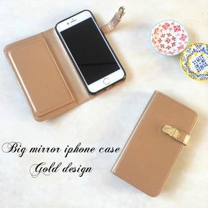ミラー付 手帳型 iPhone 5 5s SE 6 6s 6/6splus 7 7plus 8 8plus X ケース G
