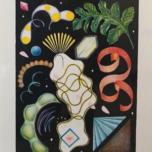 河井いづみ「人魚の宝箱」リトグラフ