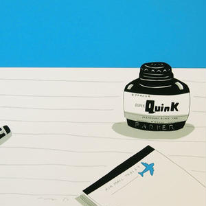 安西水丸「インク瓶」