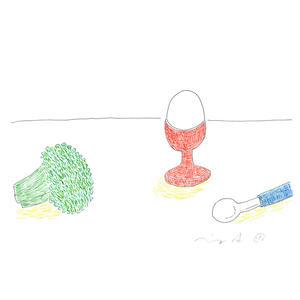 安西水丸「エッグスタンド」