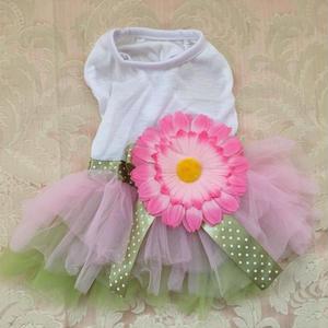 【アウトレット】デイジー ドレス ピンク グリーン