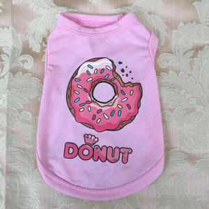 【アウトレット】ドーナツプリントシャツ ピンク