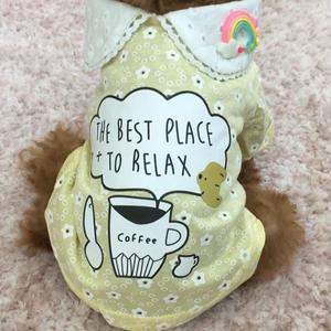 コーヒーカッププリントシャツ イエロー