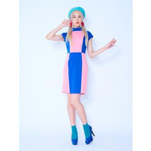 サーカスバイカラータイトドレスレス