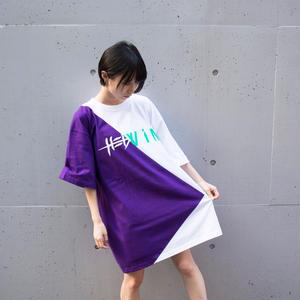 Cross Cut Missing T-Shirt STREET ARTS LIMITED / PURPLE-WHITE