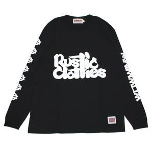 "ANIMALIA ロングスリーブTシャツ ""RUSTICLOTHES"" / BLACK"