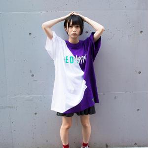 Cross Cut Missing T-Shirt STREET ARTS LIMITED / WHITE-PURPLE