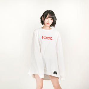 "HEDWiNG ロンT ""Kaminari"" Long Sleeve T-shirt / WHITE"