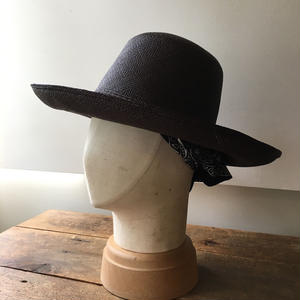 【Pauline Collection】パナマ帽 バンダナpt