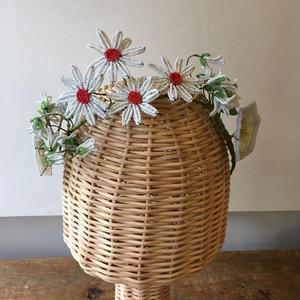 アンティークビーズフラワー 花冠