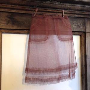 チュール フリルポケットスカート