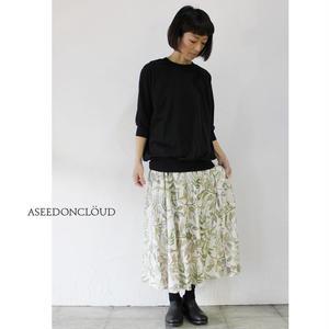 ASEEDONCLOUD アシードンクラウド oykotoen print safari flare skirt ♯オフ 【送料無料】