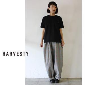 HARVESTY ハーべスティ 30/2度詰天竺ボックスTシャツ ♯オフホワイト、ブラック