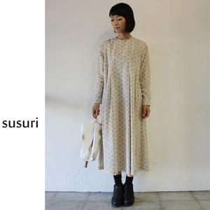 susuri ススリ モーンドレス ♯グレー、ブラック 【送料無料】