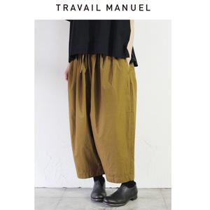 TRAVAIL MANUEL トラバイユマニュアル バイオウェザーバームパンツ ♯グレー、ブラック、キャメル 【送料無料】