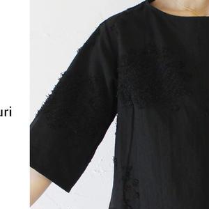 susuri ススリ スムースブラウス ♯ホワイト、ブラック【送料無料】