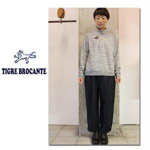 Tigre Brocante ティグルブロカンテ けものかすり裏毛トグル付ラグランスウェット #杢グレー 【送料無料】