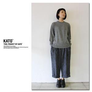 KATO' カトー ハイゲージクルーネックニット ♯グレー、レッド、ネイビー【送料無料】