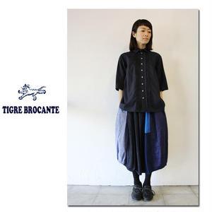 TigreBrocanteティグルブロカンテ ブルーMIXバレルスカート ♯ブルーMIX 【送料無料】