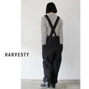 HARVESTY ハーべスティ 60/2ギャバオーバーオール ♯ブラック【送料無料】