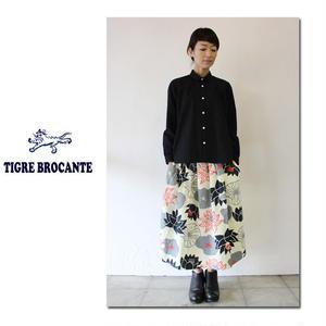 **再入荷**Tigre Brocante ティグルブロカンテx石北有美 HASUツイルポケットフィセルスカート #ナチュラル、ブルー 【送料無料】