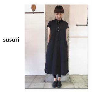 susuri ススリ シリンダーワンピース ♯black 【送料無料】
